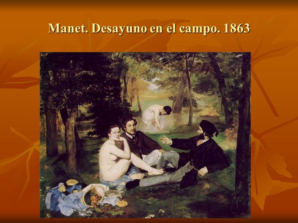 Manet. Desayuno en el campo. 1863