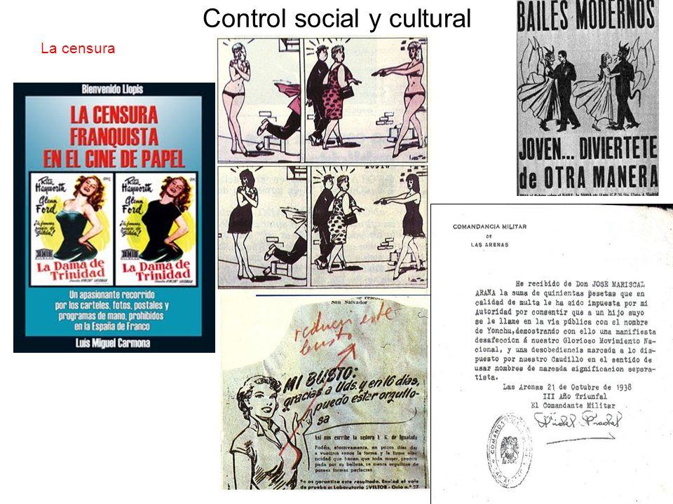 Control social y cultural La censura