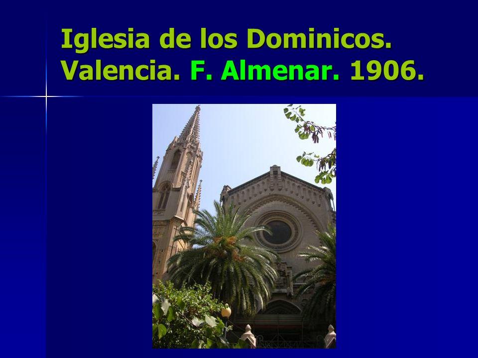 Iglesia de los Dominicos. Valencia. F. Almenar. 1906.