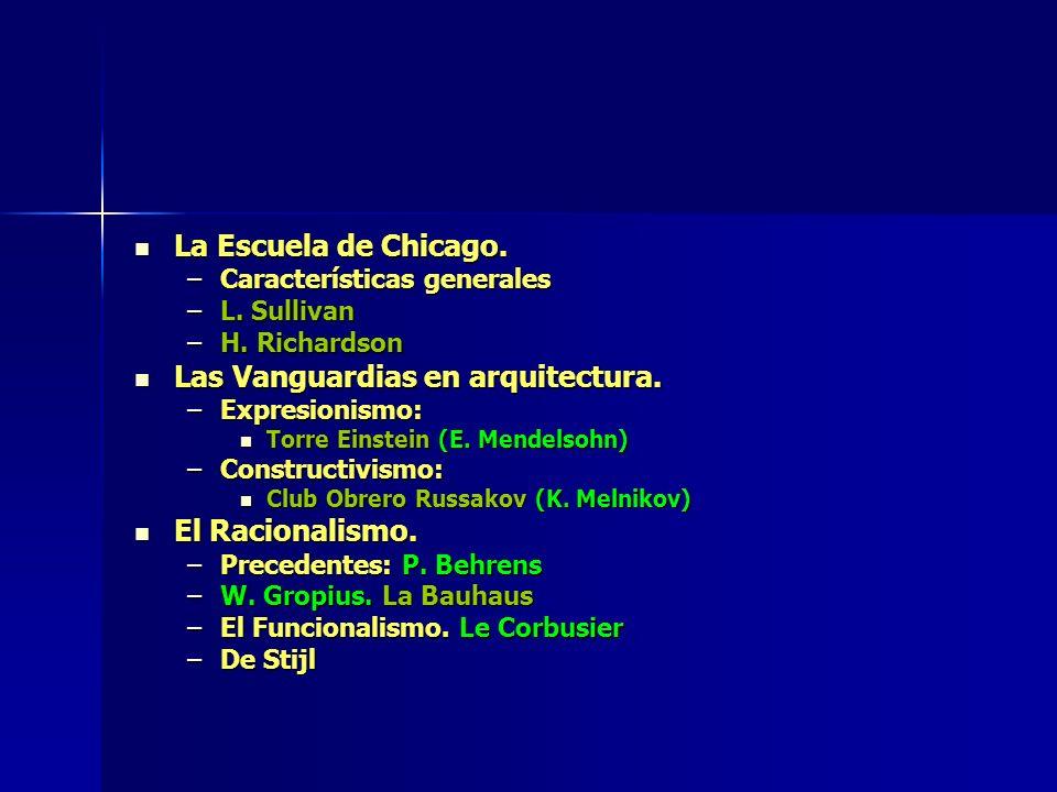 La Escuela de Chicago.La Escuela de Chicago. –Características generales –L.