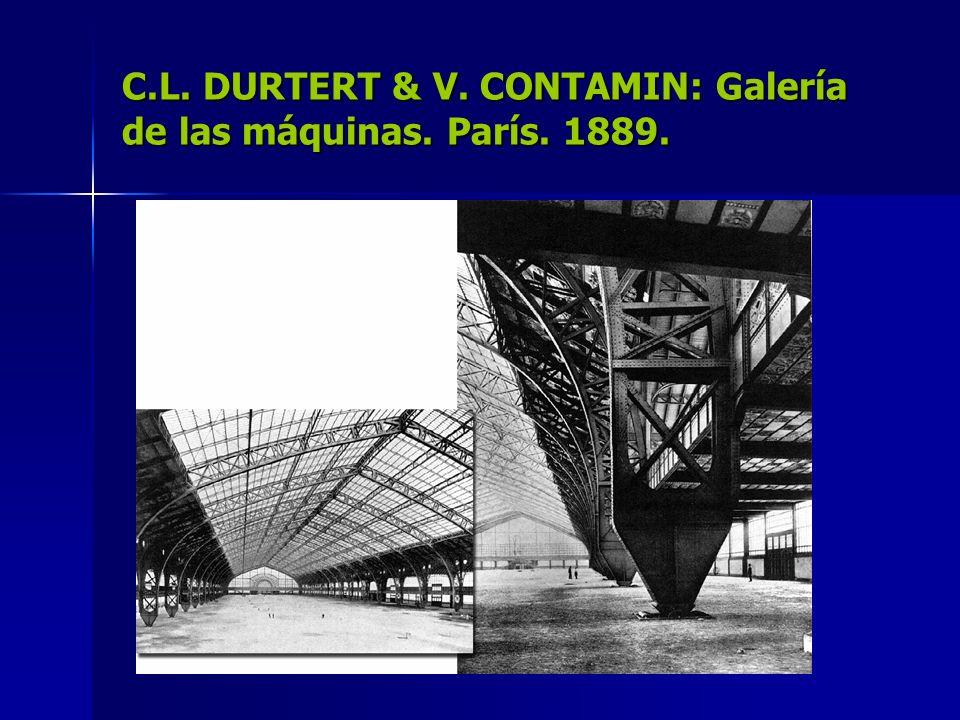 C.L. DURTERT & V. CONTAMIN: Galería de las máquinas. París. 1889.