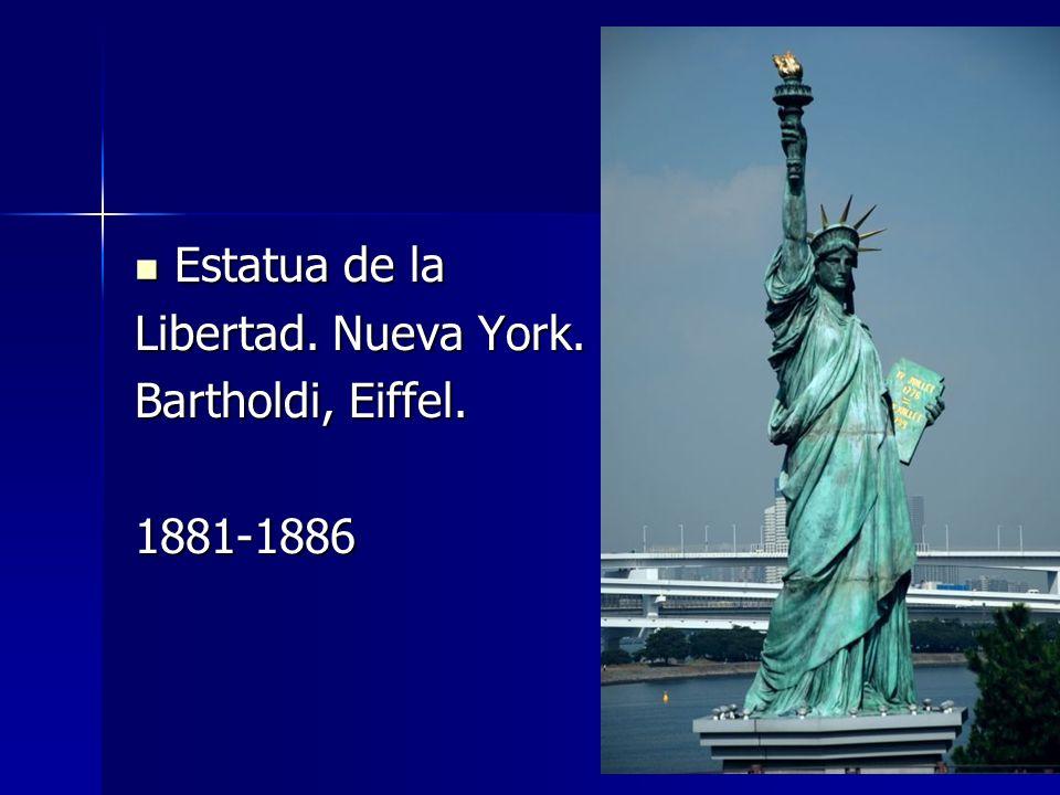 Estatua de la Estatua de la Libertad. Nueva York. Bartholdi, Eiffel. 1881-1886