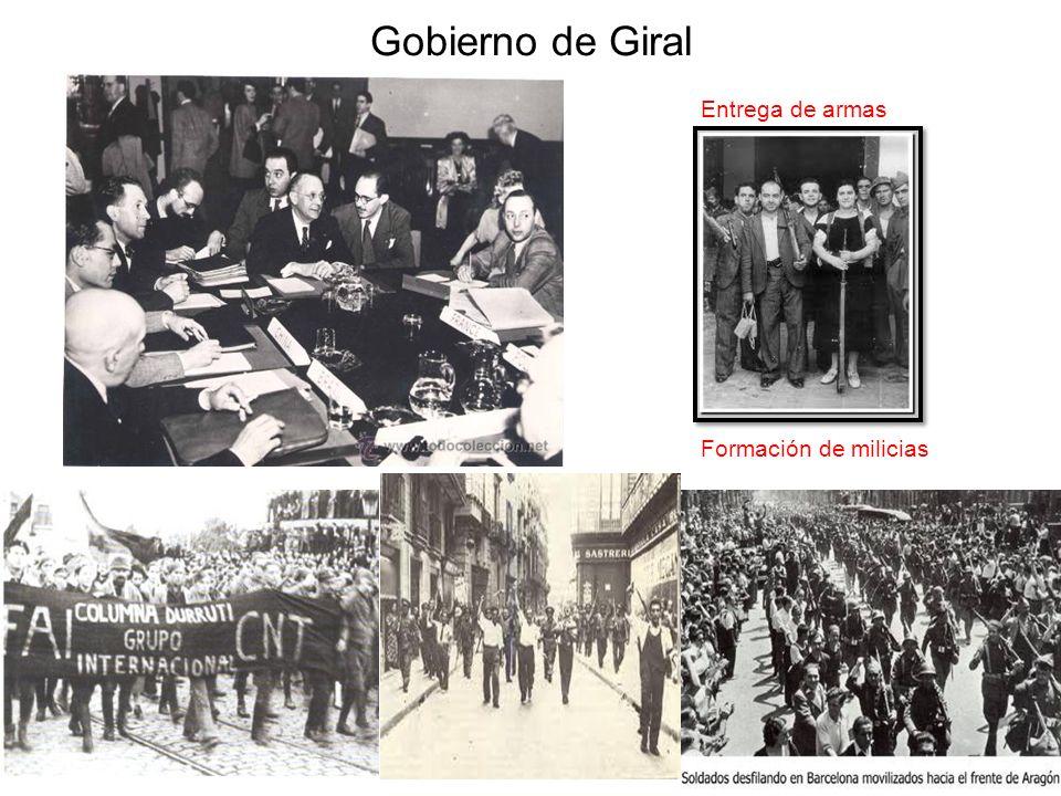 Gobierno Giral Represión indiscriminada REVOLUCIÓN SOCIAL