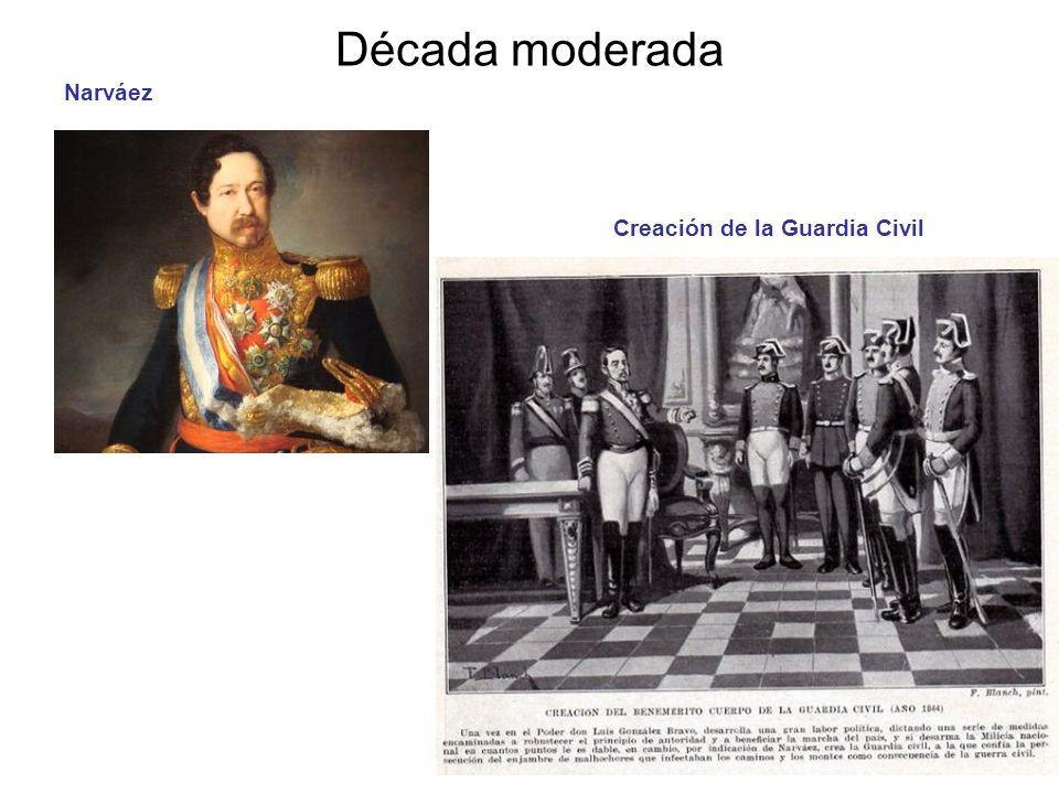 Década moderada Narváez Creación de la Guardia Civil (1844)