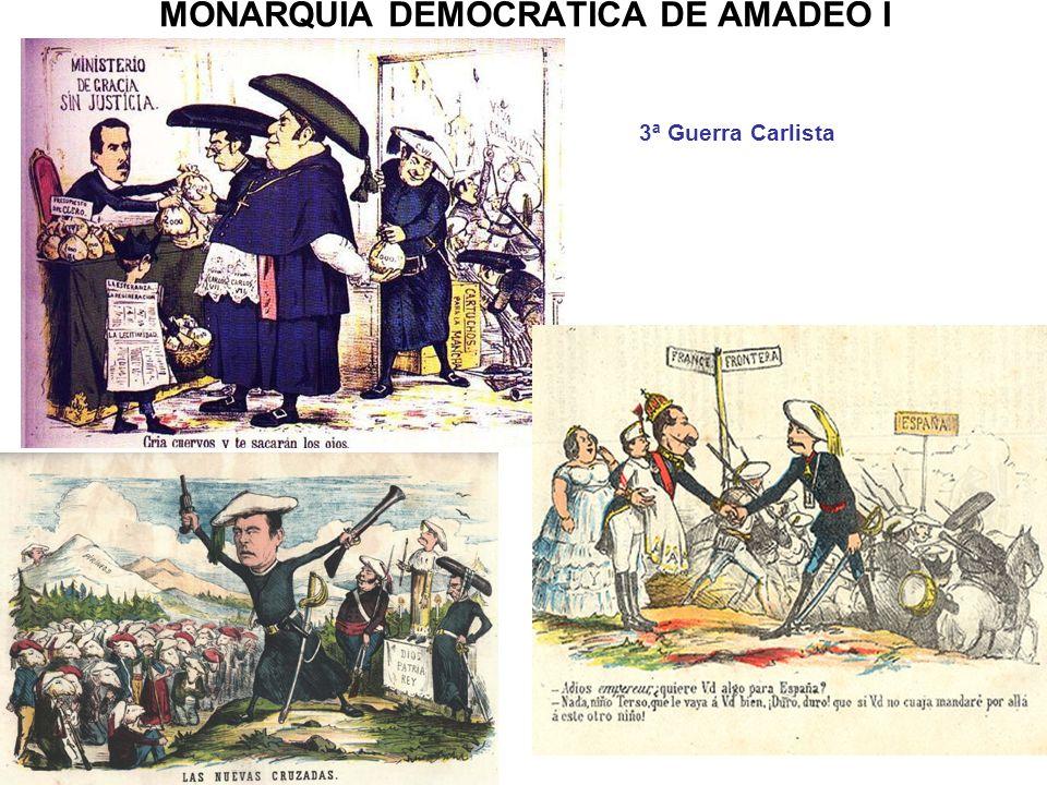 MONARQUÍA DEMOCRÁTICA DE AMADEO I 3ª Guerra Carlista