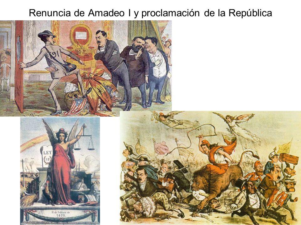 Renuncia de Amadeo I y proclamación de la República