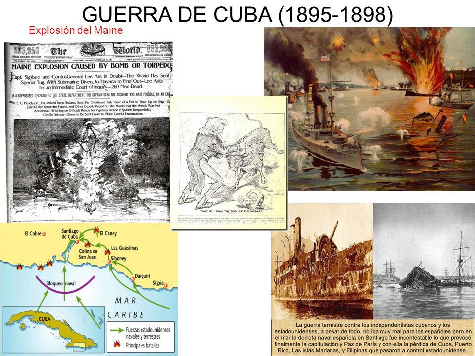 GUERRA DE CUBA (1895-1898) Explosión del Maine