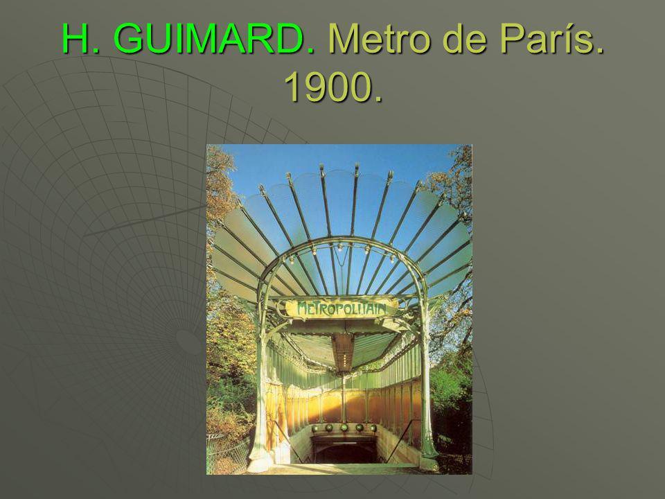 H. GUIMARD. Metro de París. 1900.
