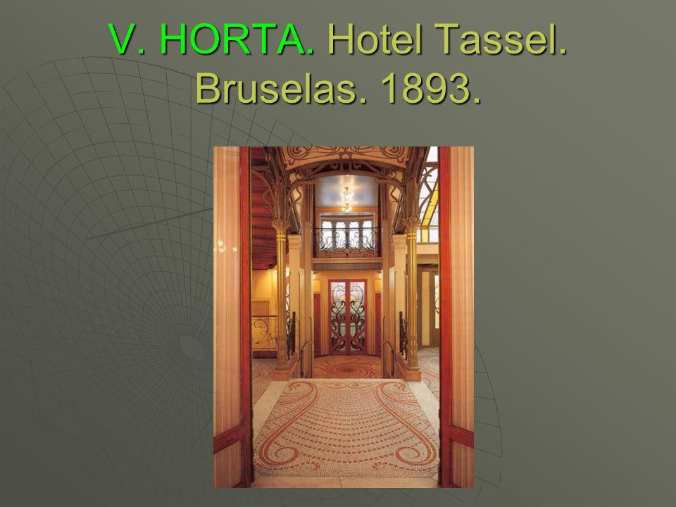 V. HORTA. Hotel Tassel. Bruselas. 1893.