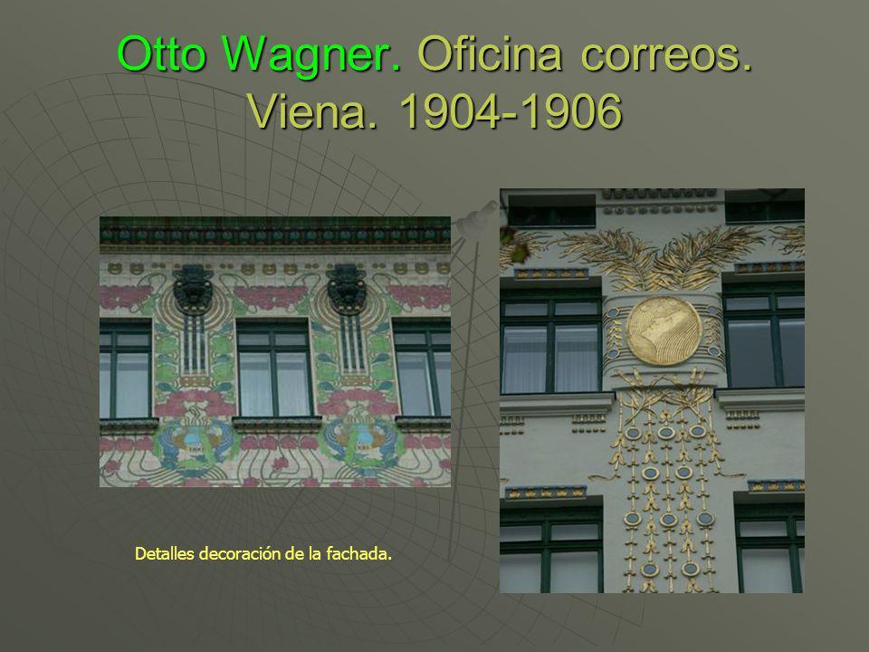 Otto Wagner. Oficina correos. Viena. 1904-1906 Detalles decoración de la fachada.