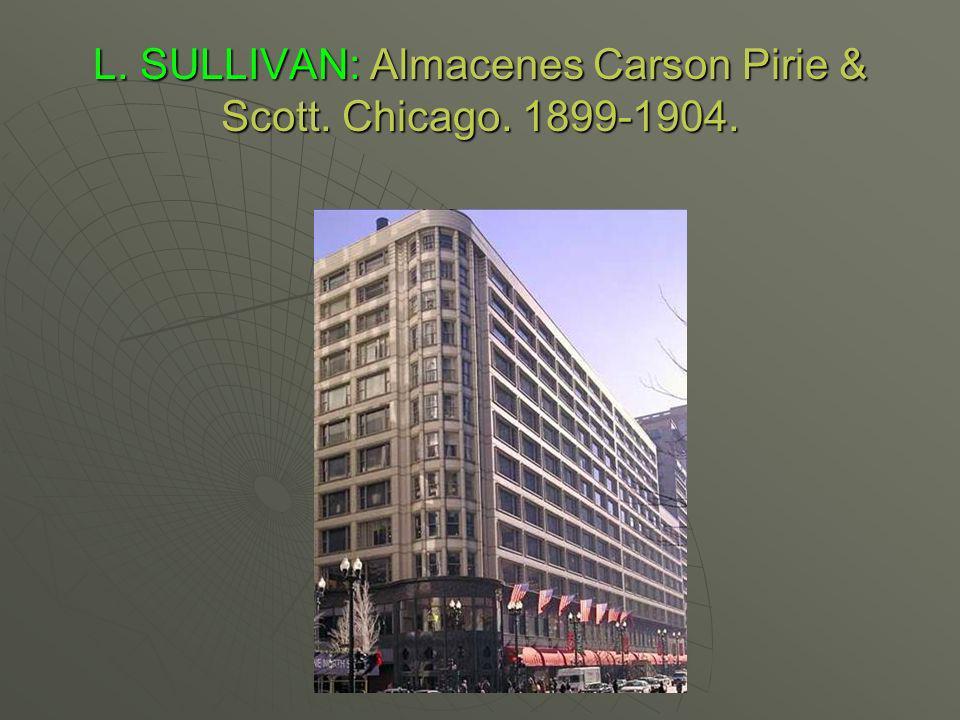 L. SULLIVAN: Almacenes Carson Pirie & Scott. Chicago. 1899-1904.