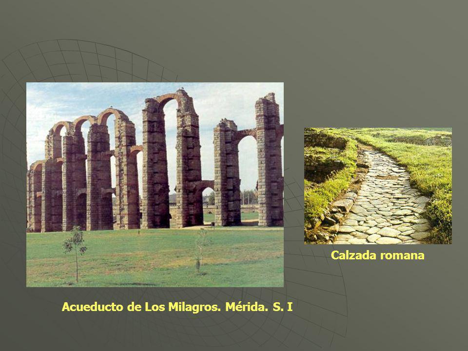Acueducto de Los Milagros. Mérida. S. I Calzada romana