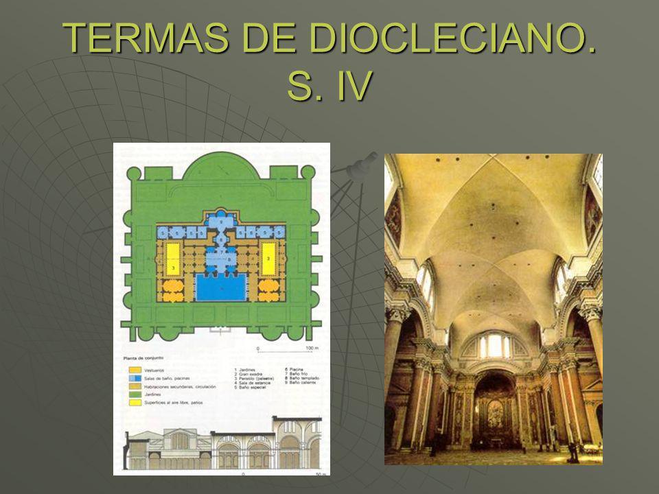 TERMAS DE DIOCLECIANO. S. IV