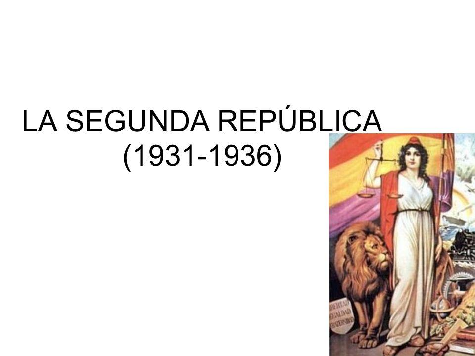 LA SEGUNDA REPÚBLICA (1931-1936)