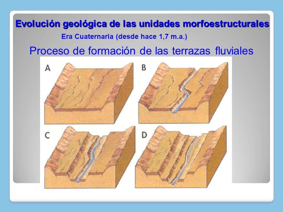 Era Cuaternaria (desde hace 1,7 m.a.) Evolución geológica de las unidades morfoestructurales Evolución geológica de las unidades morfoestructurales Pr