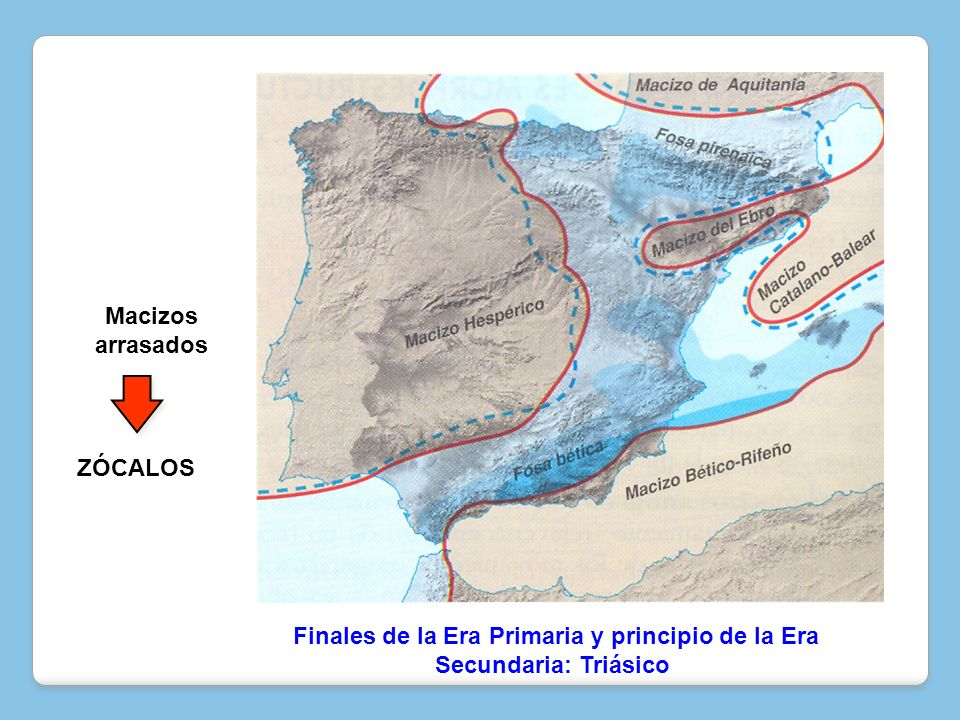 Rocas paleozoicas: Cuarcita -