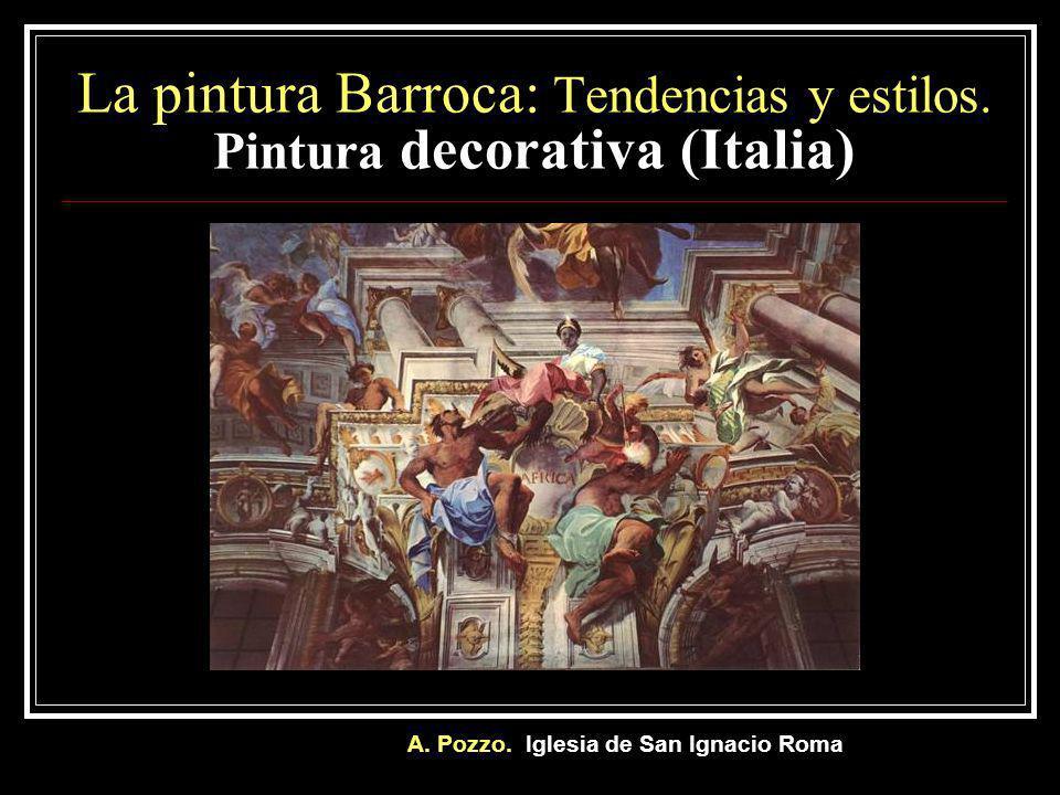 Bóveda de la Iglesia de San Ignacio. Roma. Alegoría de la obra misionera de los jesuitas. 1681
