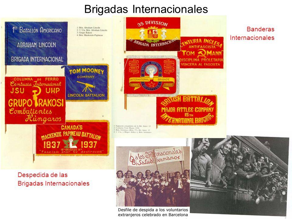 Brigadas Internacionales Banderas Internacionales Despedida de las Brigadas Internacionales