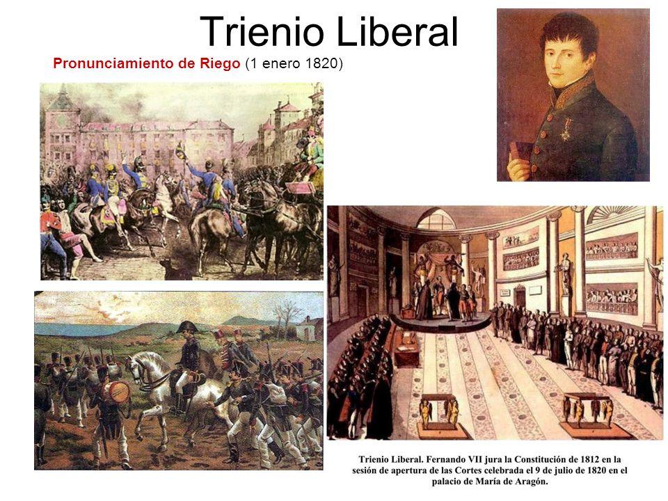 Trienio Liberal Pronunciamiento de Riego (1 enero 1820)