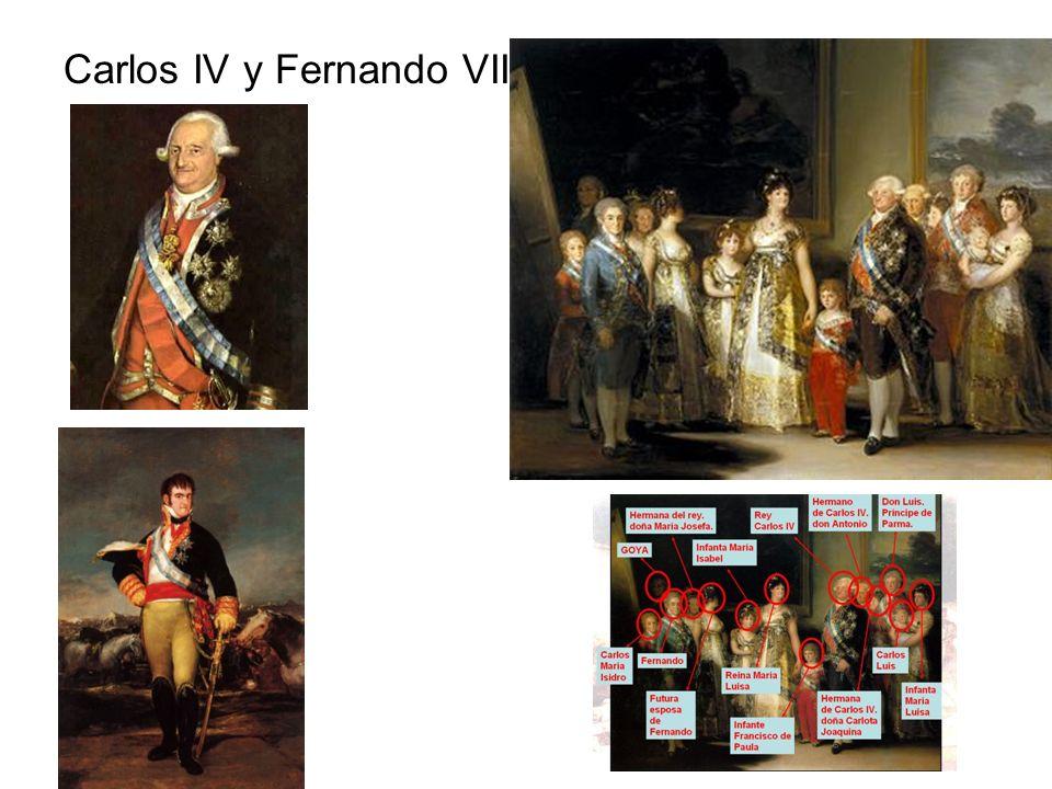 Reinado de Carlos IV (1788-1808) Impacto de la Revolución Francesa Agudiza la crisis de la monarquía.