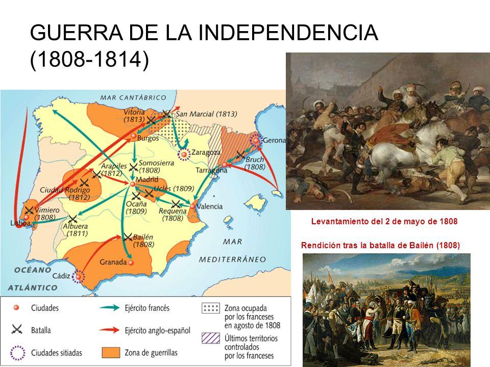 INICIO DE LA REVOLUCIÓN LIBERAL: LAS CORTES DE CÁDIZ Durante la guerra surgen órganos de poder revolucionarios que, en ausencia del rey, asumen la soberanía: JUNTAS locales y provinciales JUNTA SUPREMA CENTRAL (presidida por Floridablanca) dirige el país 1810 convoca CORTES en Cádiz CORTES DE CÁDIZ Cortes extraordinarias o constituyentes (septiembre 1810- septiembre 1813) Cámara única.