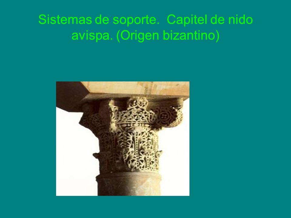 Sistemas de soporte. Capitel de nido avispa. (Origen bizantino)