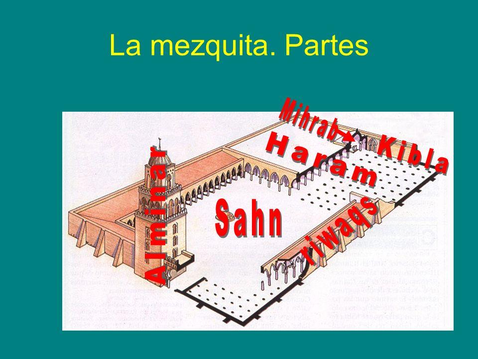 La mezquita. Partes