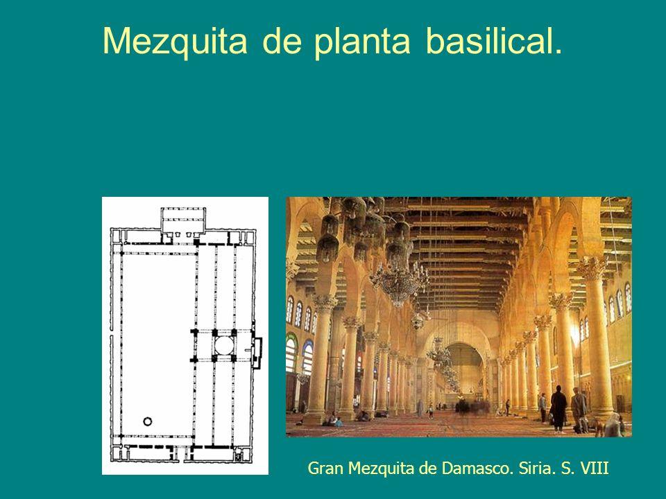 Mezquita de planta basilical. Gran Mezquita de Damasco. Siria. S. VIII