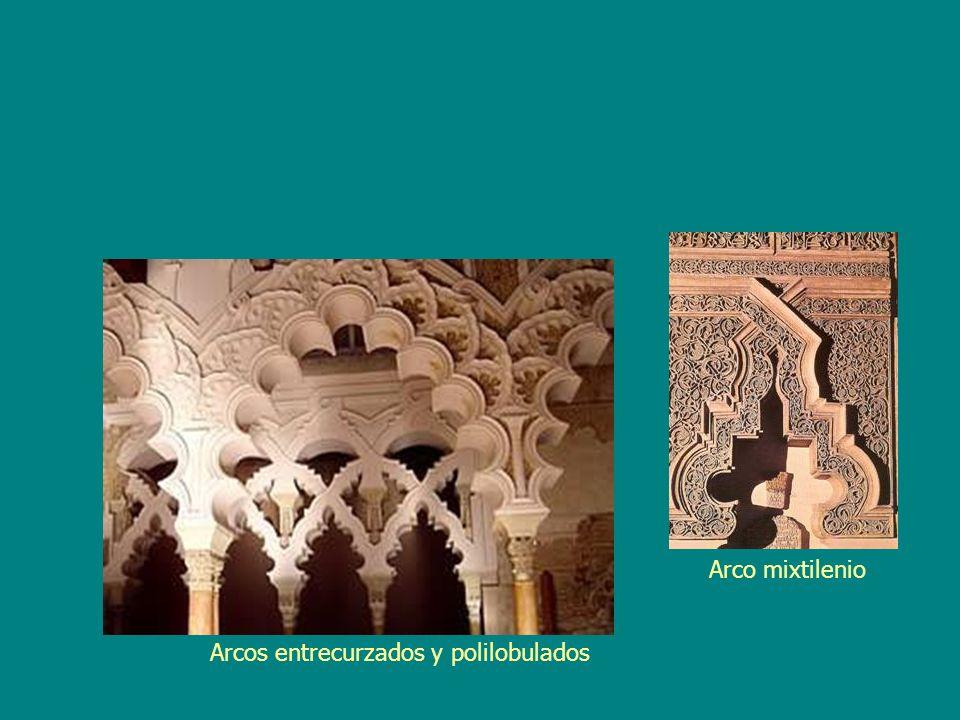 Arco mixtilenio Arcos entrecurzados y polilobulados