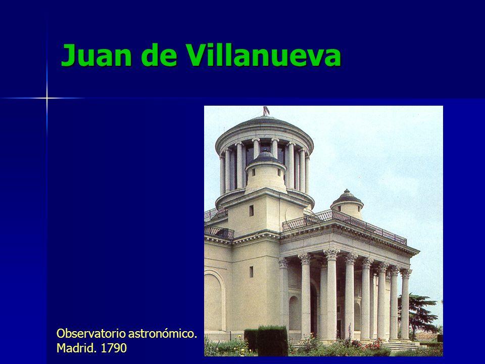 Juan de Villanueva Observatorio astronómico. Madrid. 1790