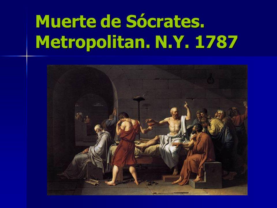 Muerte de Sócrates. Metropolitan. N.Y. 1787
