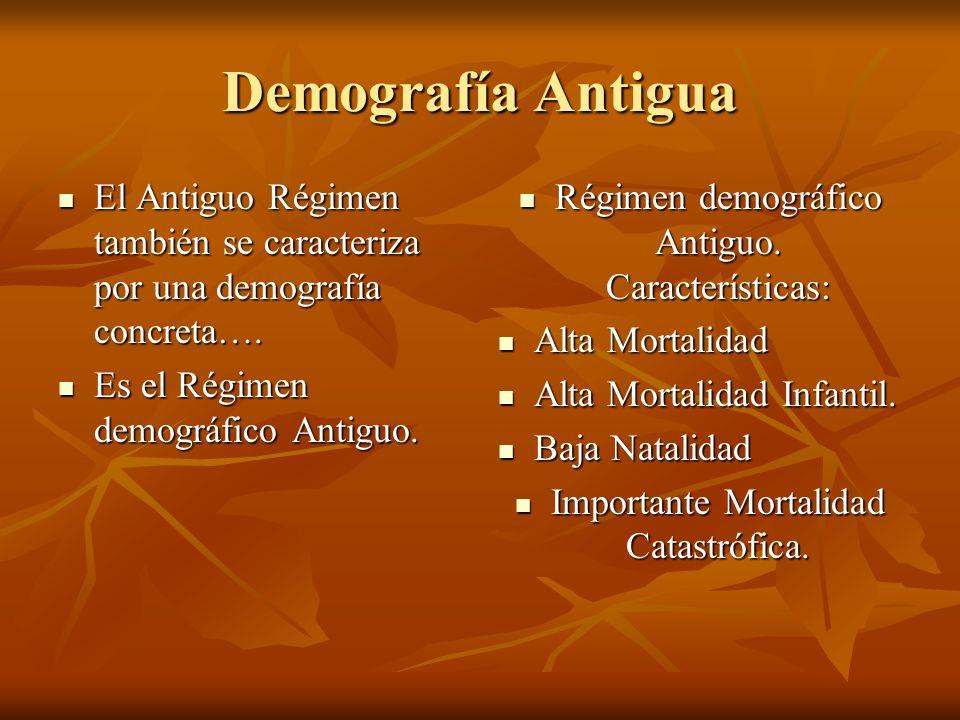 Demografía Antigua El Antiguo Régimen también se caracteriza por una demografía concreta…. El Antiguo Régimen también se caracteriza por una demografí