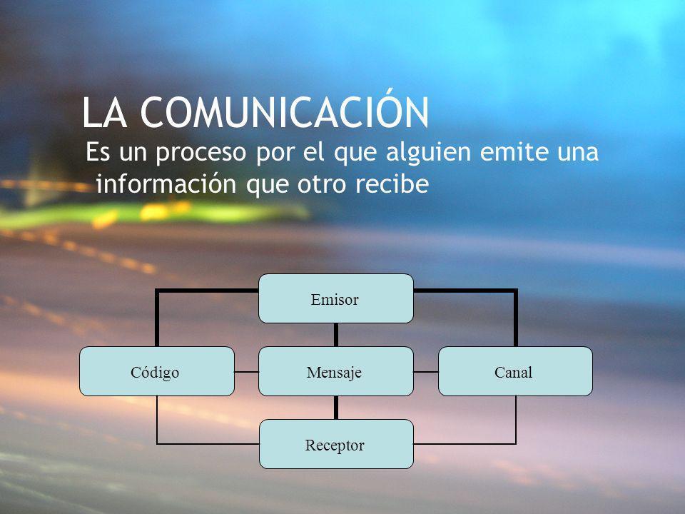 LA COMUNICACIÓN Es un proceso por el que alguien emite una información que otro recibe