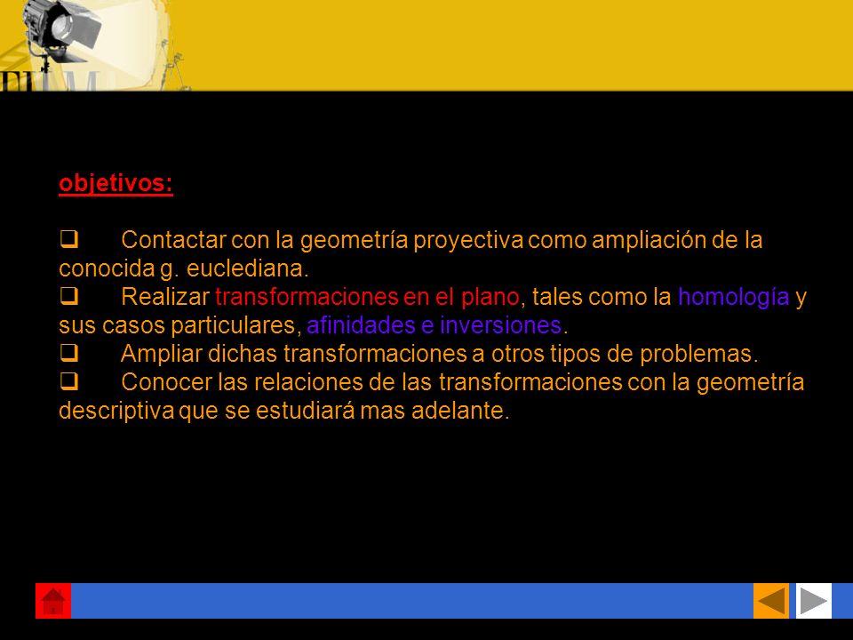 Autor: Rafael Quintero Transformaciones geométricas Tema 4-1º BACH