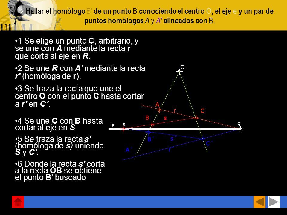 Construir la figura homóloga del polígono ABCDE conociendo el centro O, el eje e y un punto A'. 1 Aplicando el procedimiento general, se une el punto