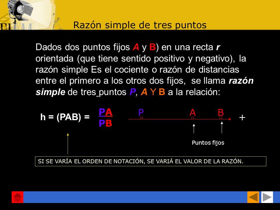 RECTA ORIENTADA: Se designa así a la recta en la cual ha sido fijado un sentido como positivo PAB + Elementos geométricos fundamentales. Son el punto,