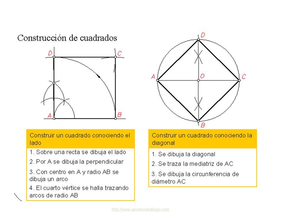 http://www.apuntesdedibujo.comapuntesdedibujo 4 Polígonos 5 Dibujo Técnico 2.º BACHILLERATO Cuadrilátero inscribible y circunscribible Cuadriláteros I