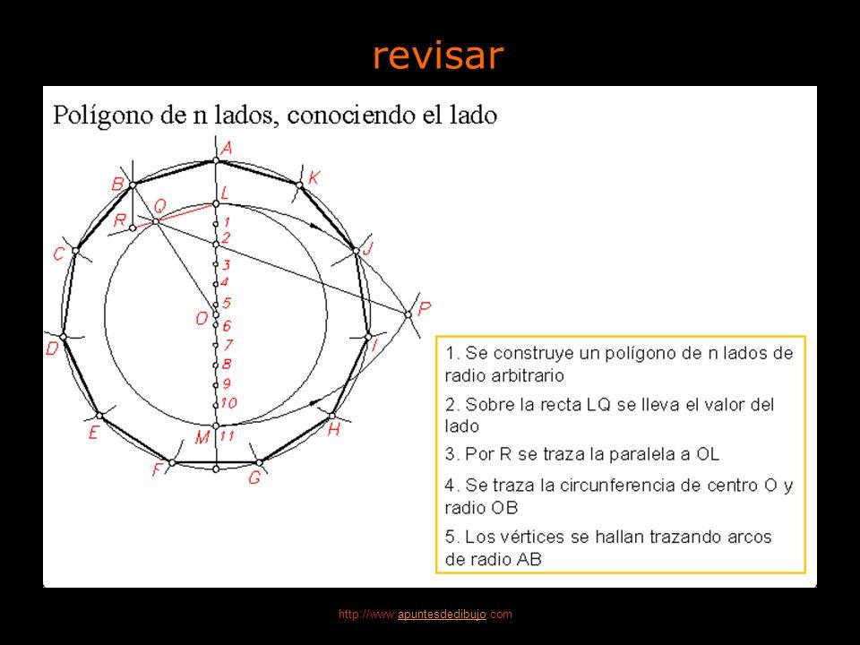 http://www.apuntesdedibujo.comapuntesdedibujo 4 Polígonos 14 Dibujo Técnico 2.º BACHILLERATO Construcción de un eneágono Polígono de 9 lados, conocien