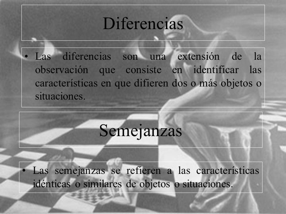 11 Comparación La comparación es un proceso básico que permite establecer relaciones previas entre pares de características, objetos o situaciones.