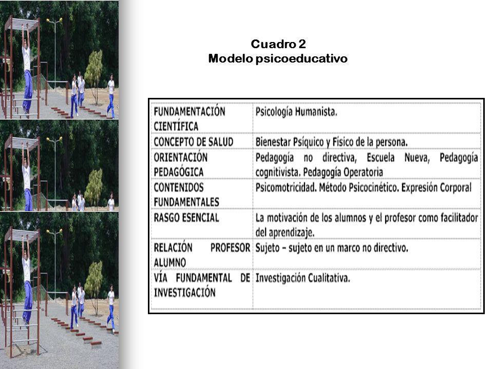 Cuadro 2 Modelo psicoeducativo