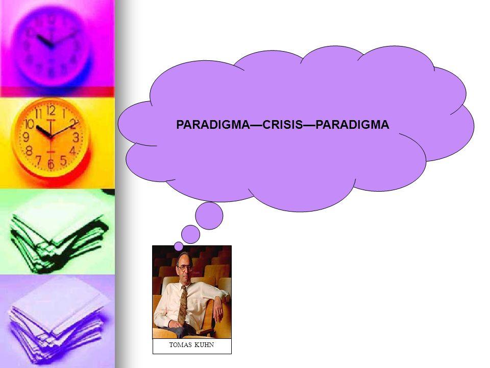 Paradigma: Un paradigma o modelo como generalmente suele emplearse el término, sirve para diferenciar un comunidad científica de otra (Ritzer,1993).