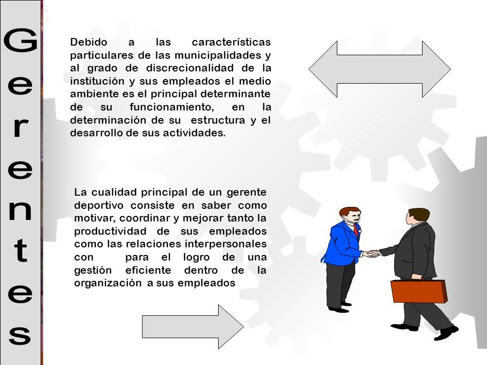 Debido a las características particulares de las municipalidades y al grado de discrecionalidad de la institución y sus empleados el medio ambiente es