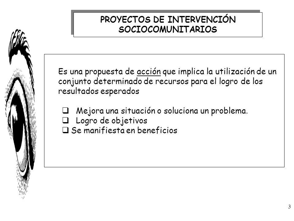 Es una propuesta de acción que implica la utilización de un conjunto determinado de recursos para el logro de los resultados esperados Mejora una situ