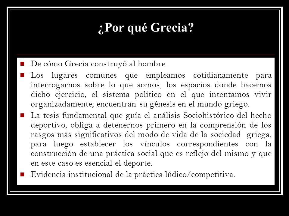 ¿Por qué Grecia? De cómo Grecia construyó al hombre. Los lugares comunes que empleamos cotidianamente para interrogarnos sobre lo que somos, los espac