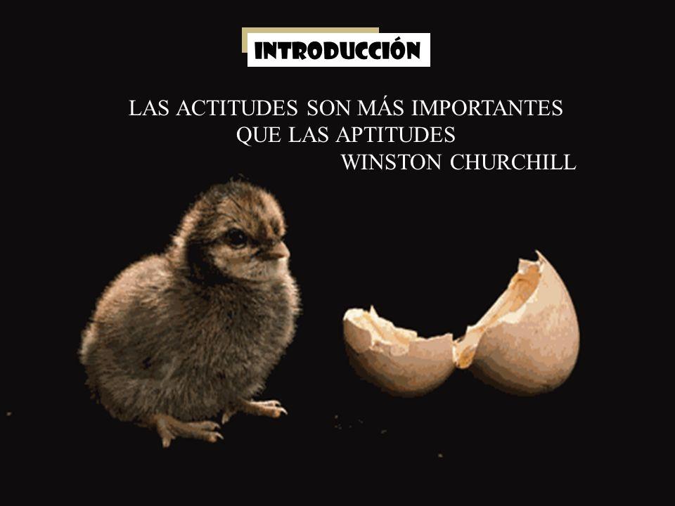 LAS ACTITUDES SON MÁS IMPORTANTES QUE LAS APTITUDES WINSTON CHURCHILL INTRODUCCIÓN