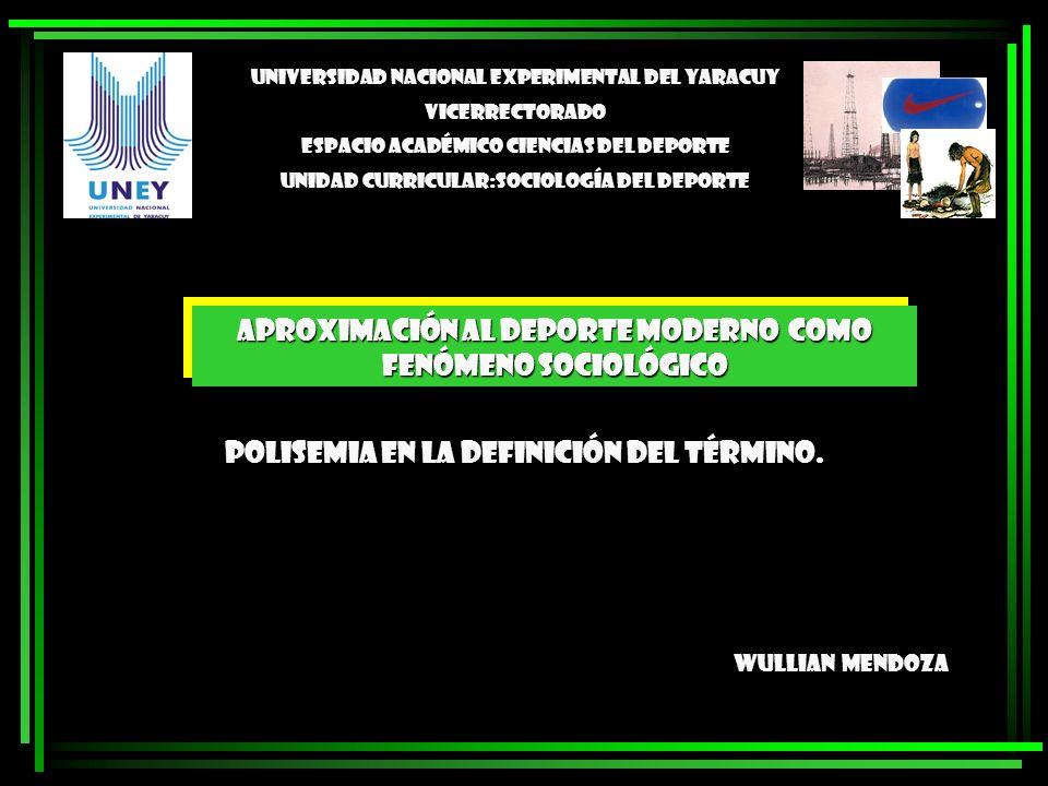 Polisemia en la definición del término. Wullian Mendoza Universidad Nacional Experimental del Yaracuy Vicerrectorado Espacio Académico Ciencias del De
