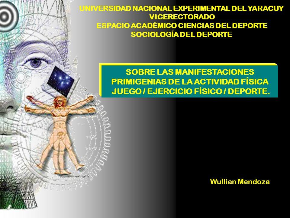 UNIVERSIDAD NACIONAL EXPERIMENTAL DEL YARACUY VICERECTORADO ESPACIO ACADÉMICO CIENCIAS DEL DEPORTE SOCIOLOGÍA DEL DEPORTE SOBRE LAS MANIFESTACIONES PR