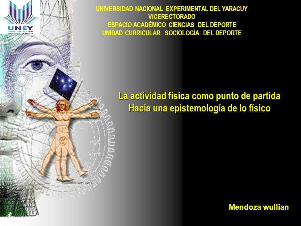 UNIVERSIDAD NACIONAL EXPERIMENTAL DEL YARACUY VICERECTORADO ESPACIO ACADÉMICO CIENCIAS DEL DEPORTE UNIDAD CURRICULAR: SOCIOLOGÍA DEL DEPORTE La activi