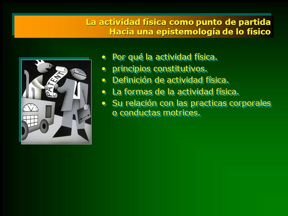 La actividad física como punto de partida Hacia una epistemología de lo físico Por qué la actividad física.Por qué la actividad física. principios con
