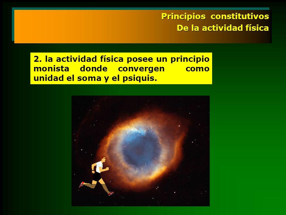 Principios constitutivos De la actividad física Principios constitutivos De la actividad física 2. la actividad física posee un principio monista dond